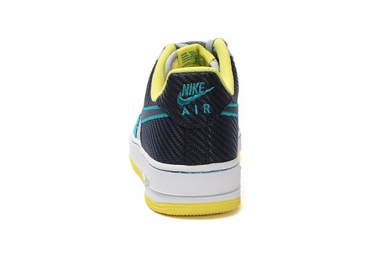 free shipping 4803b 54fdc Nike Air Force 1 - Wolf Grey   Midnight Navy - Tropical Teal