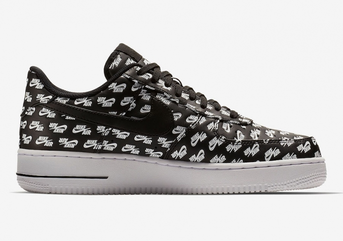 Air Force 1 Low All Over Logo Black AH8462 001
