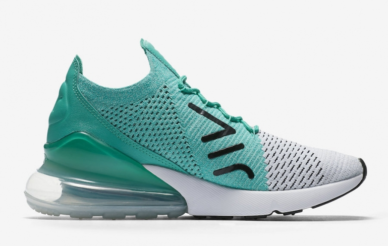 best sneakers 64547 ff60f Nike WMNS Air Max 270 Flyknit Clear Emerald