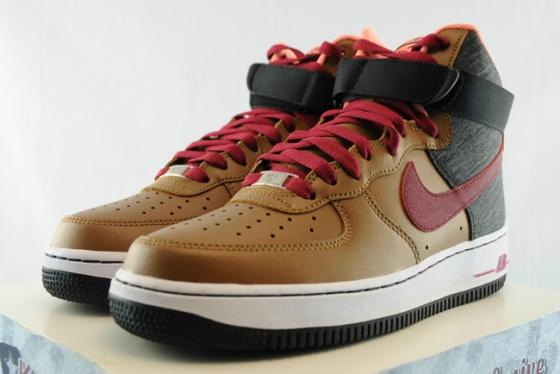 Nike Air Force 1 High Ale BrownNoble Red Black | Nike