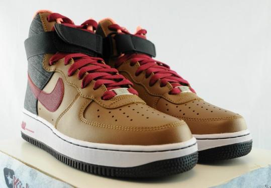 on sale d6cda 83306 Nike Air Force 1 High - Ale Brown   Noble Red - Black - KicksOnFire.com