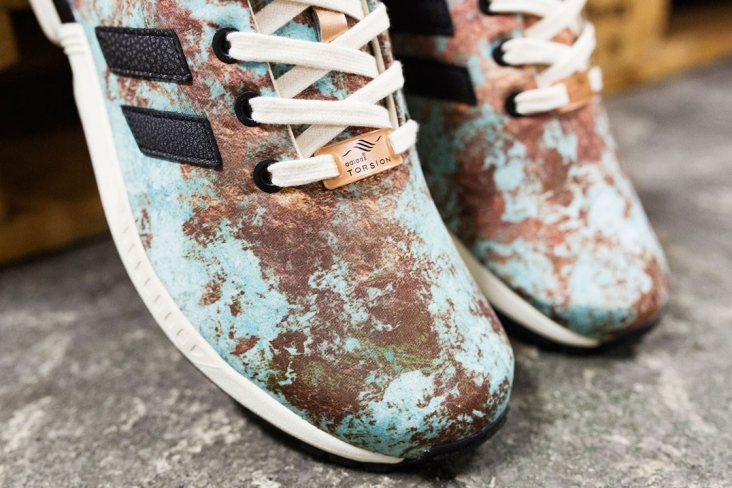 "quality design b3b60 10f66 Sneakersnstuff x adidas Originals ZX Flux ""Aged Copper"" - KicksOnFire.com"