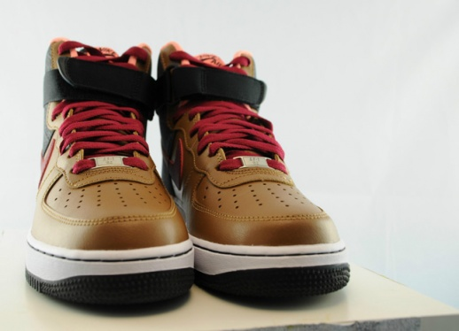on sale ee8ad d5946 Nike Air Force 1 High - Ale Brown   Noble Red - Black - KicksOnFire.com