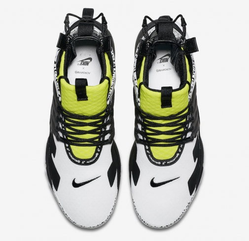 reputable site 50a1c 266fe Acronym x Nike Air Presto Mid Dynamic Yellow