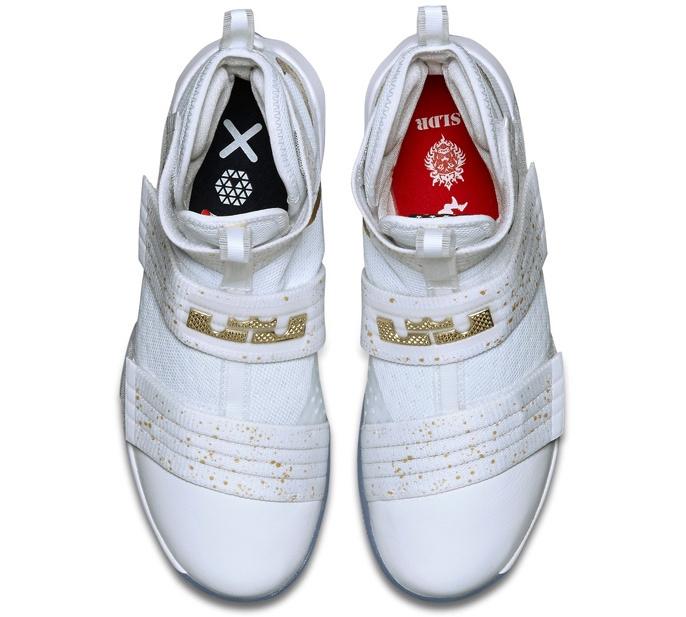 Nike LeBron Zoom Soldier 10 - Gold Medal - KicksOnFire.com 7095e7e7d064