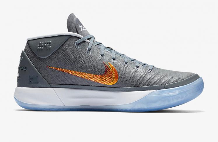 low priced d0795 ac311 Nike Kobe AD Mid Grey Snake - KicksOnFire.com
