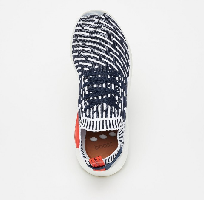 Adidas nmd r2 primeknit collegiate navy running white