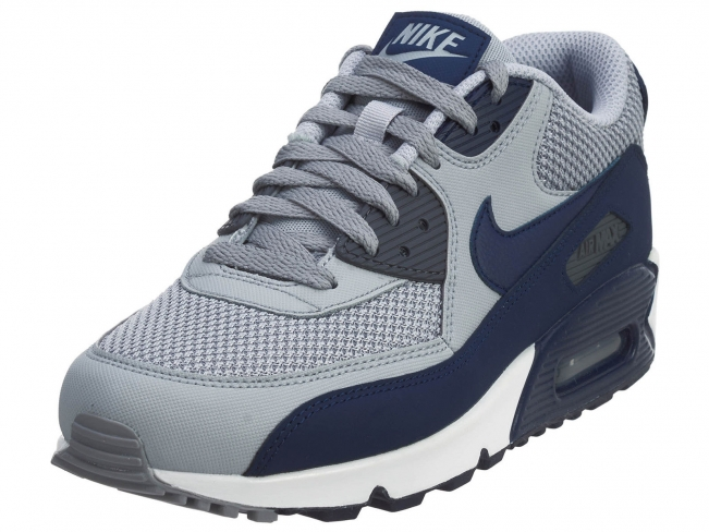 best loved 40fe4 73eef Nike Air Max 90 Wolf Grey Binary Blue - KicksOnFire.com