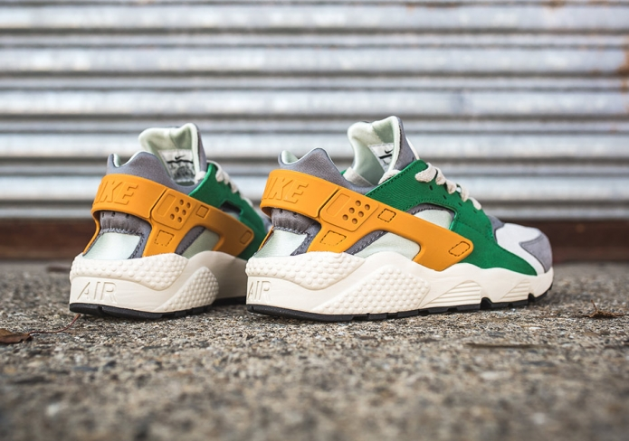 Nike Air Huarache Pine Green Gold Leaf   SneakerFiles