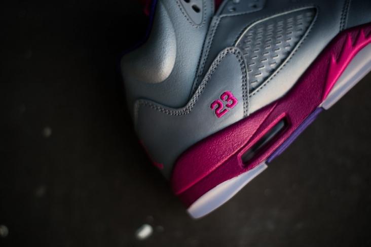 af9e27354f1d Air Jordan 5 GS - Cement Grey   Pink Foil - Raspberry Red - KicksOnFire.com
