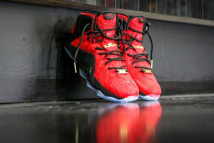new product b14d1 8a20b Nike LeBron 12 EXT - Red Paisley - KicksOnFire.com