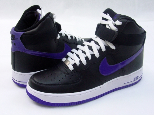 c7a3352ac4d70f Nike Air Force 1 High - Black   Court Purple - KicksOnFire.com