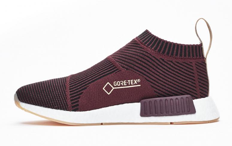 Sneakersnstuff x adidas NMD City Sock Gore Tex Dark Burgundy -  KicksOnFire.com 24d7f3bc7