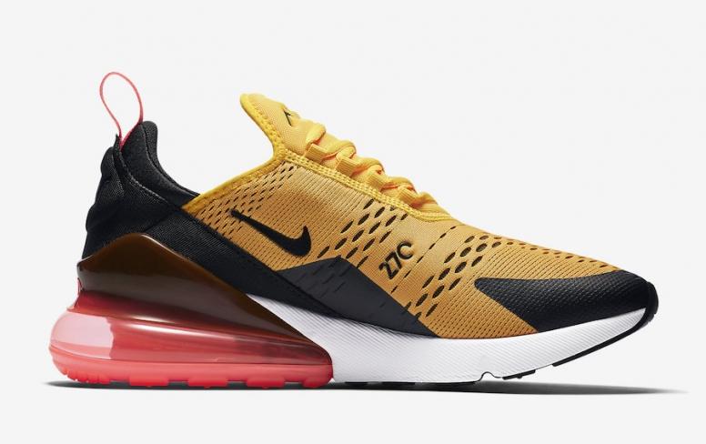 Nike Air Max 270 Black University Gold - KicksOnFire.com 911da37a2