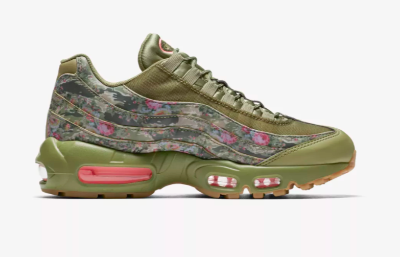 Release Date: Nike WMNS Air Max 95 Floral Camo •