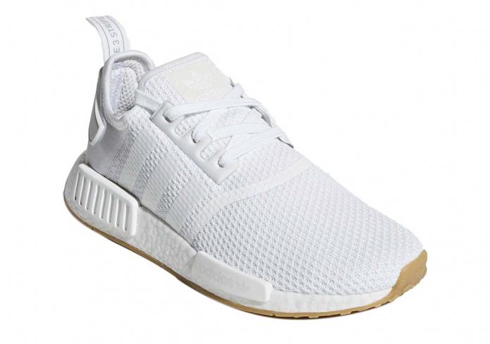 Adidas Nmd R1 Gum Sole Cloud White Kicksonfire Com