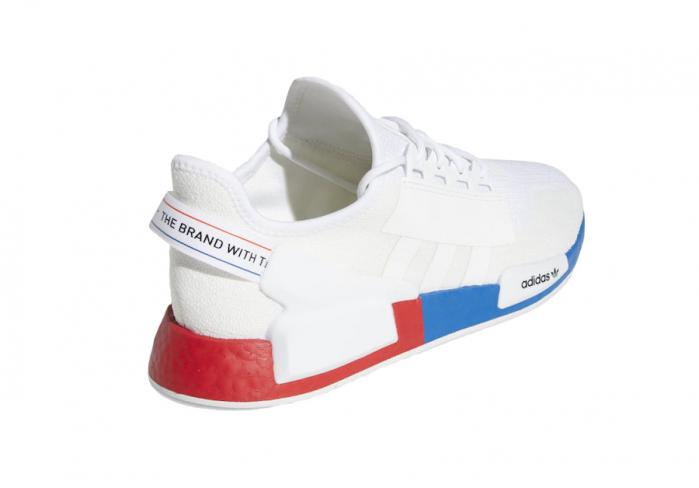 Adidas Nmd R1 V2 White Red Blue Kicksonfire Com