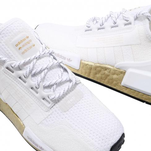Adidas Wmns Nmd R1 V2 Cloud White Gold Kicksonfire Com