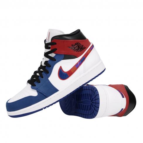 Air Jordan 1 Mid University Red Rush Blue Kicksonfire Com