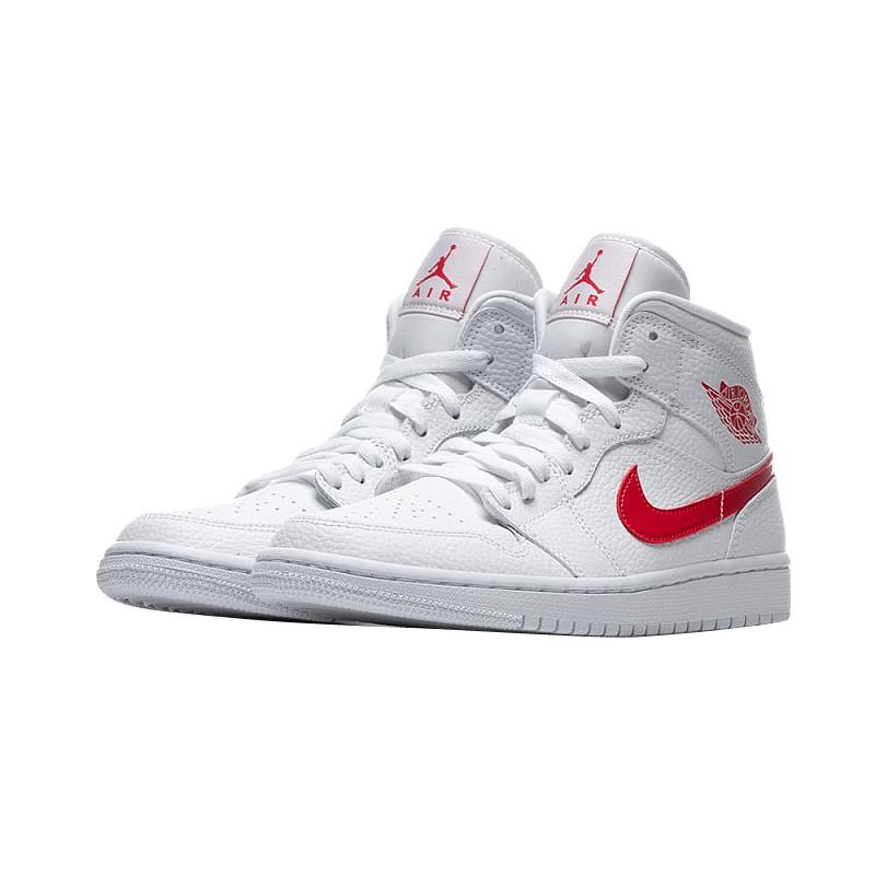 Air Jordan 1 Mid Wmns White University Red Kicksonfire Com