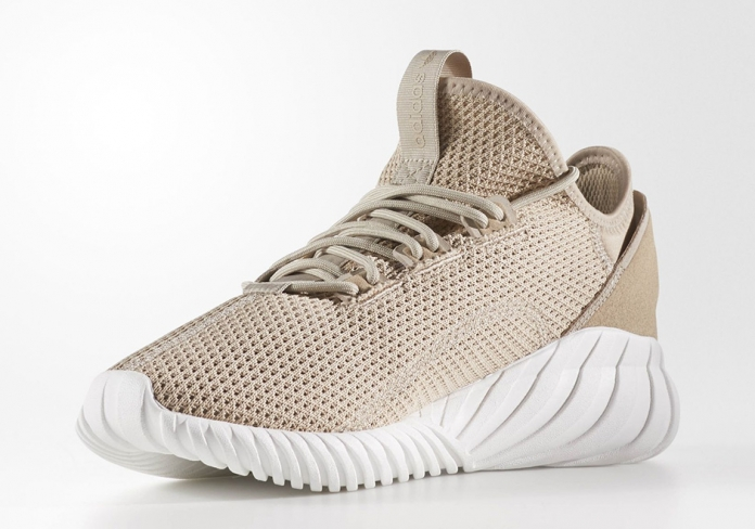 new york 0ad42 4d3bb adidas Tubular Doom Sock Primeknit Tan - KicksOnFire.com