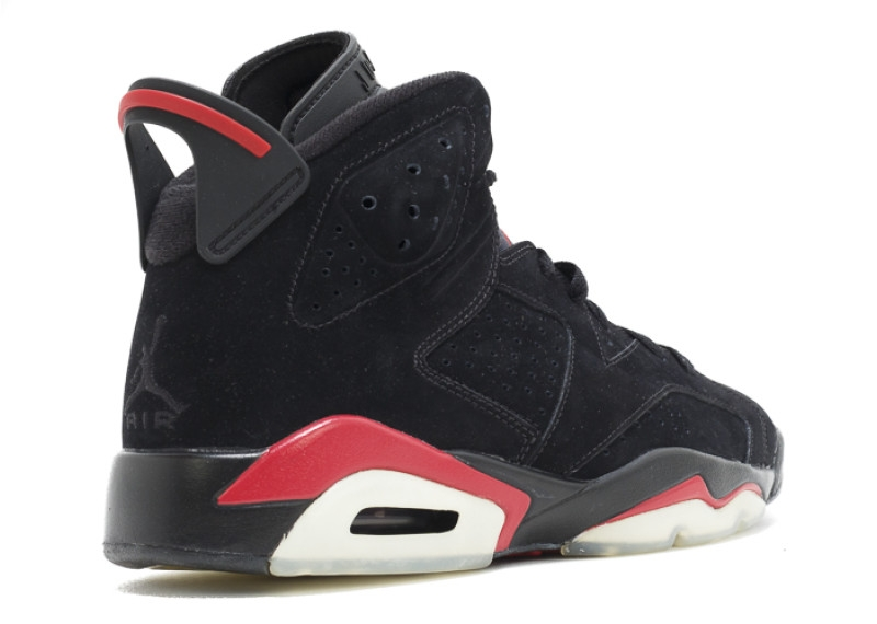 sale retailer dea82 2e38a Air Jordan 6 Black Varsity Red (2010) - KicksOnFire.com