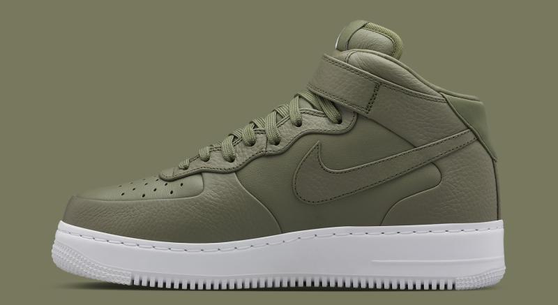 NikeLab Air Force 1 Mid Urban Haze/White/Urban Haze Good Quality