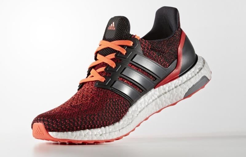 Adidas Ultra Boost 2.0 Solar Red Core Black Gradient AQ5930