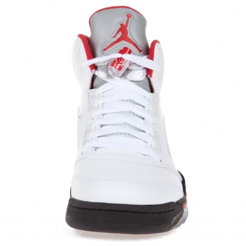 hot sale online 27242 35841 Air Jordan 5 Fire Red Silver Tongue - KicksOnFire.com
