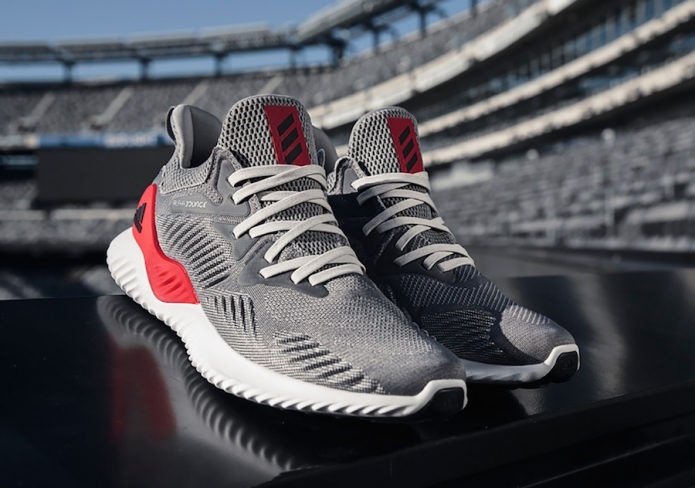 half off a4a2c 0fe0f adidas AlphaBOUNCE Beyond Grey Red
