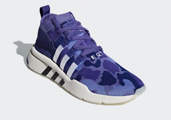 competitive price 9f1bd 1672e adidas EQT Support Mid ADV Purple Camo - KicksOnFire.com