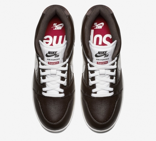 21cfed7d095b Supreme x Nike SB Air Force 2 Baroque Brown. Buy Now From  226