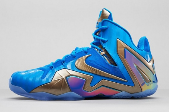 new concept b21ad 69c3f Nike Lebron 11 Elite 3M Blue Hero