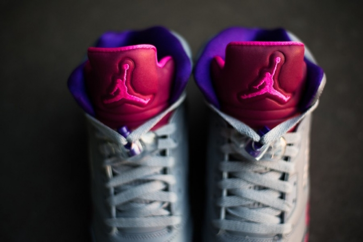 e0c607fabb55 Air Jordan 5 GS - Cement Grey   Pink Foil - Raspberry Red - KicksOnFire.com