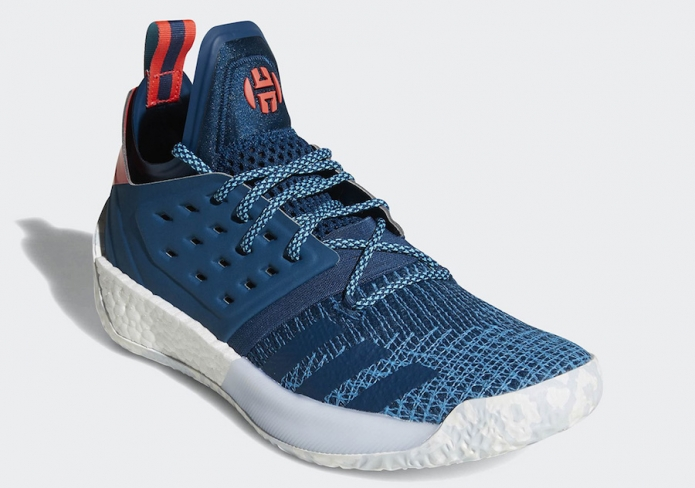 adidas Harden Vol. 2 Deep Blue Red Sneakers For Sale