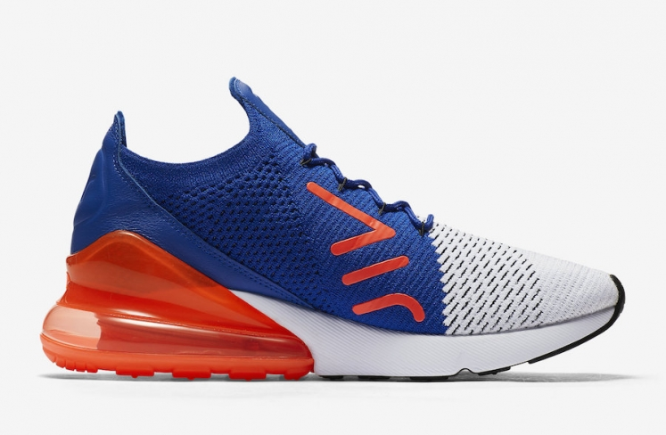 new products db973 ae5f2 Nike Air Max 270 Flyknit Racer Blue Total Crimson