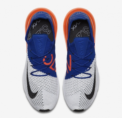 new products 60807 26dd8 Nike Air Max 270 Flyknit Racer Blue Total Crimson