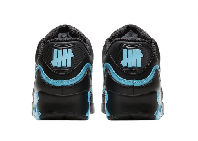 Undefeated X Nike Air Max 90 Black Blue Fury Kicksonfire Com