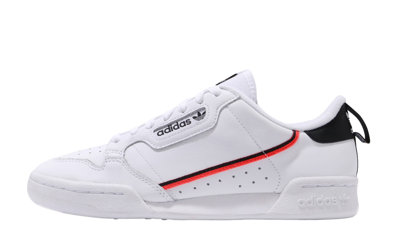 adidas Continental 80 Footwear White Core Black Solar Red ...