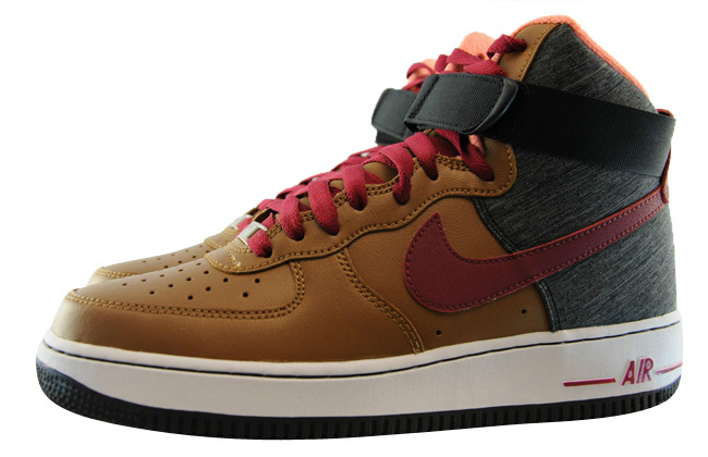 Nike Air Force 1 High Ale Brown Noble Red Black