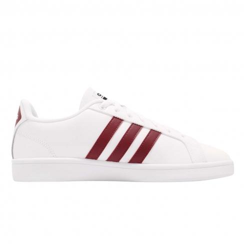 adidas Cloudfoam Advantage Footwear White Collegiate Burgundy ...