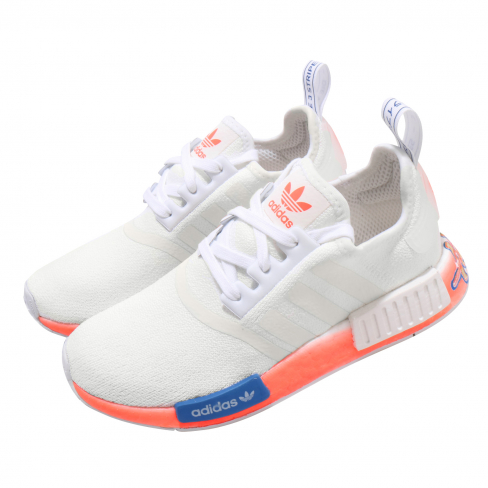 adidas NMD R1 Cloud White Orange Blue