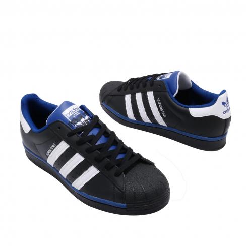 adidas Superstar Core Black Footwear White Collegiate Royal ...