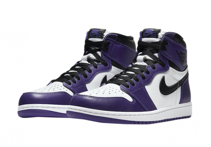 Air Jordan 1 High OG White Court Purple