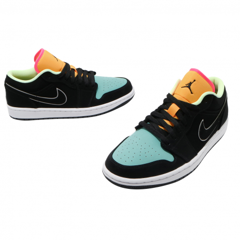 Air Jordan 1 Low SE Black Aurora Green - KicksOnFire.com