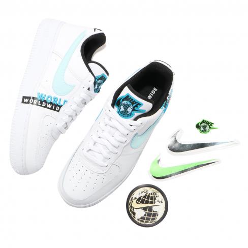 Nike Air Force 1 Low Worldwide White Blue Fury - KicksOnFire.com