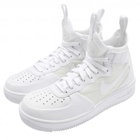 Nike WMNS Air Force 1 Ultraforce Mid White - KicksOnFire.com