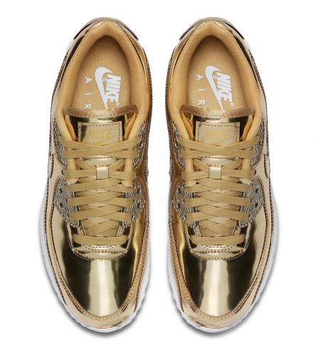 Nike WMNS Air Max 90 Metallic Gold - KicksOnFire.com