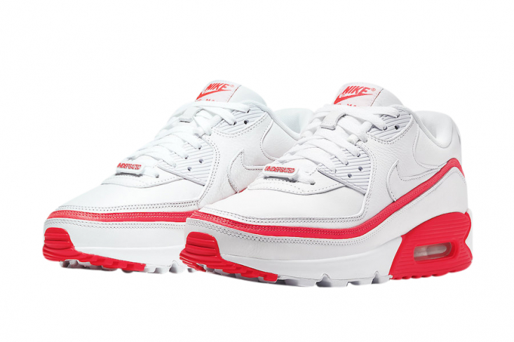 Undefeated x Nike Air Max 90 White Solar Red - KicksOnFire.com