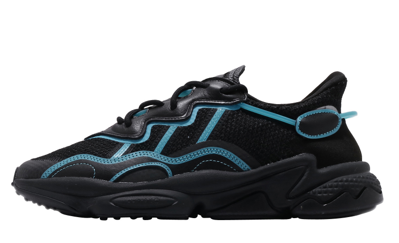 adidas Ozweego Core Black Bright Cyan - KicksOnFire.com